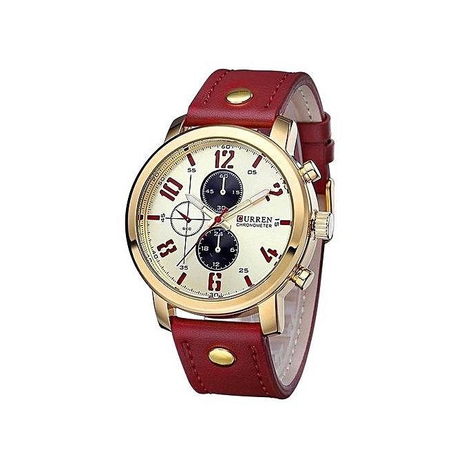 CURREN 8192 Mens Watch Brand Luxury Sports Quartz-Watch Fashion Watches  Military Leather Strap Men 12e90553c1019