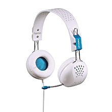 Perplex-PC Stereo Multimedia Headphones With Mic & Volume control white