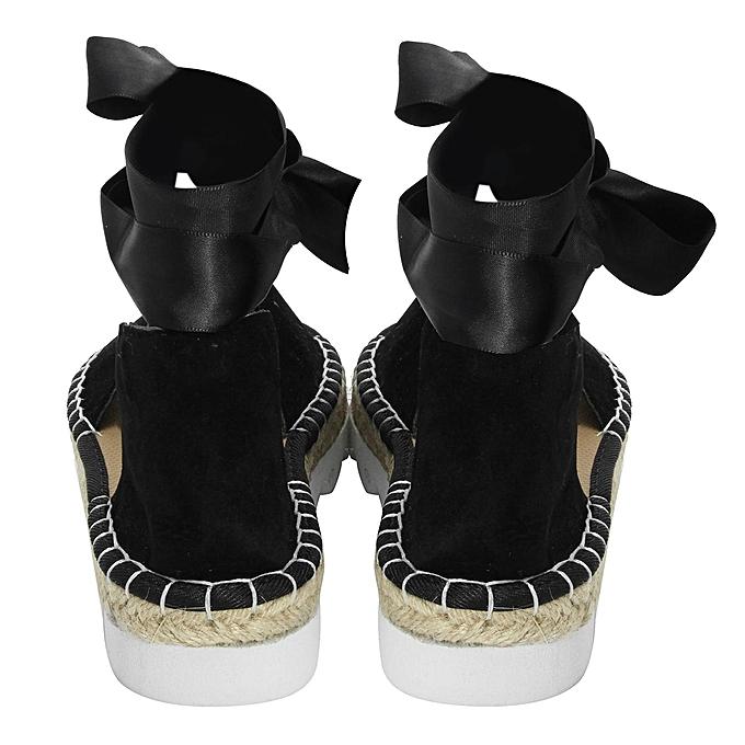 0789207d383 ... Fashion Womens Sandals Anke Strap Block Summer Espadrille Platform  Casual Shoes-EU ...