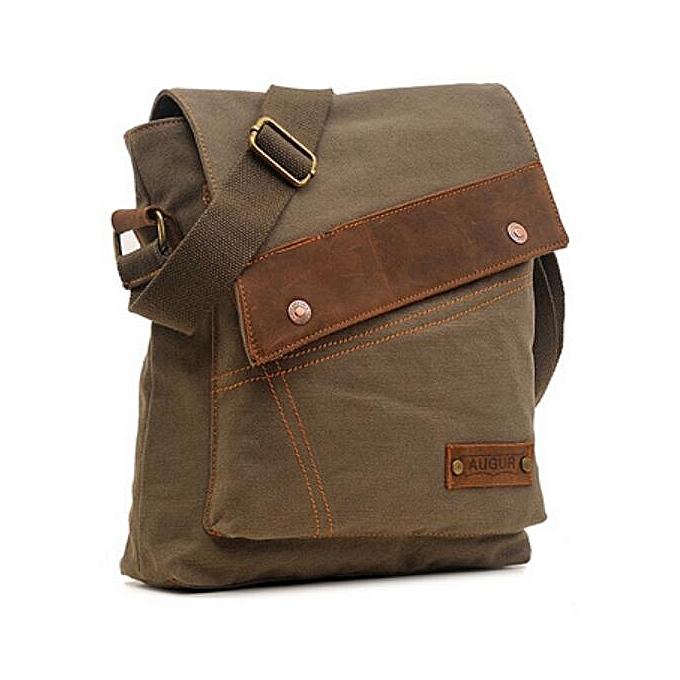 d81d27b95b Business Men s Bag Fashion Shoulder Bag Leather Canvas Messenger Bag