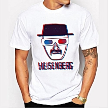 Grace Men's Fashion Art Design Heisenberg Printing T-shirt Hot Sale Breaking Bad Tee Shirts Hipster Cool Tops-Color 8