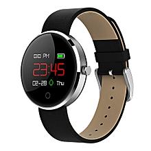 Smartwatch NRF52832 Bluetooth Message Notification Sedentary Remind Health Tracker OLED Display - Black+Sliver