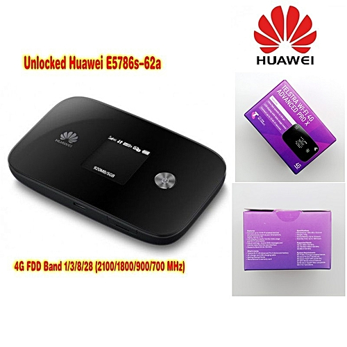 New Arrival Unlock 300Mbps HUAWEI E5786s-62a 4G WiFi Router And 4G LTE CAT6  Mobile WiFi Router with antenna and adapter