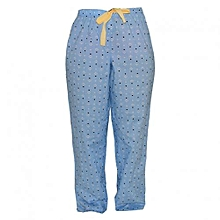 Blue Printed Women's Pajamas