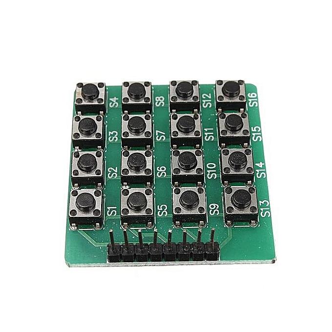 7423cffb36b 4x4 Matrix 16 Keypad Keyboard Module 16 Button Mcu for Arduino New