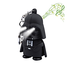 Brelong Music-making Cartoon Keychain with LED Pendant Night Light BLACK