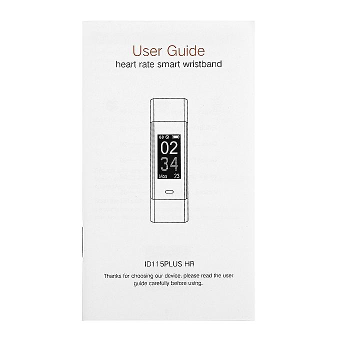 Buy Fashion Id115hr Plus Heart Rate Monitor Smart Bracelet Best