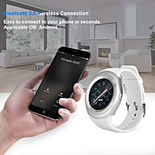 Smart Bluetooth Watch Simple Style Smart Bluetooth Android Watch Support SIM Card HD LCD Touch Screen Anti-lost White