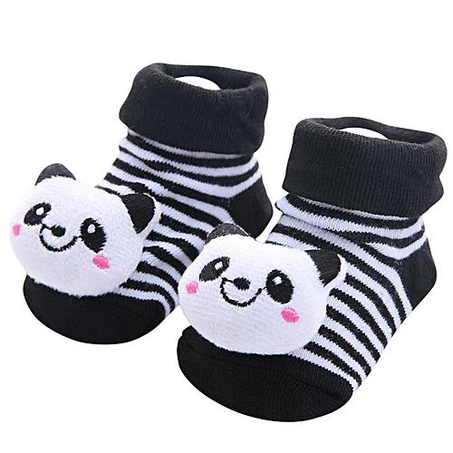 28b83de62e6bc Baby Cartoon Socks Toddler Animal No Show Non Slip Anti Skid Slippers Shoes  Black 29#