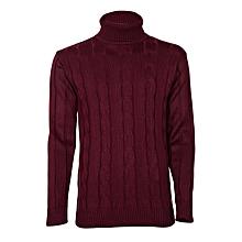 Maroon Turtle Neck Sweater