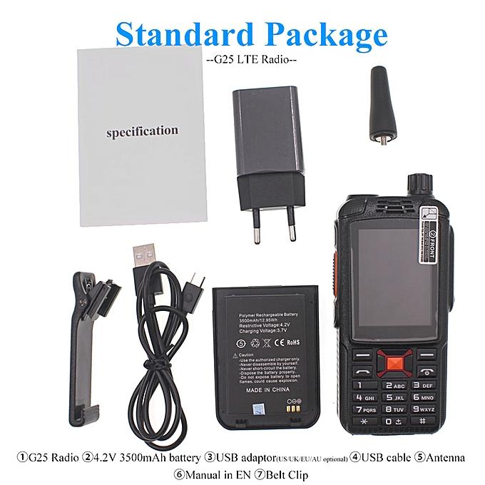 F22 Upgrade 4g LTE Android Radio Zello PTT G25/F25 WCDMA GSM Dual Card  Walkie Talkie REMIO