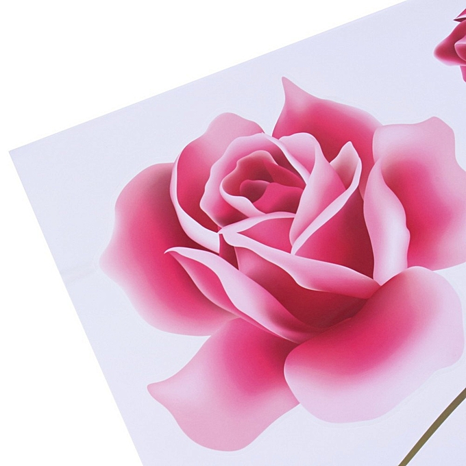 6e50ee6bd ... 3D Rose Flower Romantic Love Wall Sticker Removable Decal Home Decor  Living Room Bed Decals Mother s ...