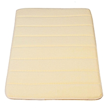 Memory Foam Bath Bathroom Bedroom Floor Shower Mat Rug Non-slip Water Absorbent Cream color
