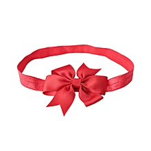 Babies Pure Color Bowknot Hairband - Red