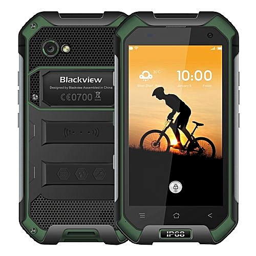 BV6000 3GB+32GB IP68 Waterproof Dustproof Shockproof Double Colored 4500mAh Battery 4.7 Inch Corning Gorilla Glass 3 Screen Android 7.0 4G Smartphone(Green)