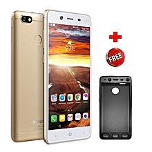 "P15- 5.5""- 16GB+2GB- 13MP- 4000mAh-Dual SIM-Fingerprint- Gold+ Protective Case."