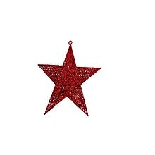 Xmas Hanging Star - 40cm - Red