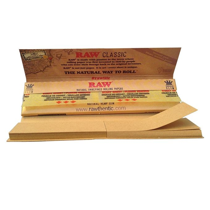 Raw 5 X Connoissuer Natural Unrefined Rolling Papers
