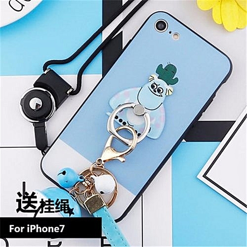 check out faed9 c9255 Cute Cartoon Stitch Case For IPhone 7 4.7 Inch With Stand Ring Holder Back  Phone Cover+Strap Bell Accessories(Multicolor-10)