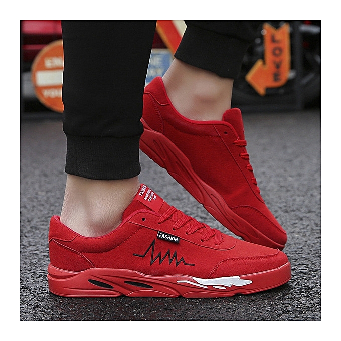 38be01a0af1 New men's running shoes casual fashion wild multi-color bottom tide shoes  sports men's shoes-red