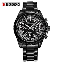 Watches, 8053 men quartz military wristwatches fashion casual water resistant business watch - Black