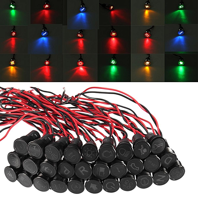 Buy Generic 122436v 12mm Symbol Led Dashboard Panel Warning Pilot