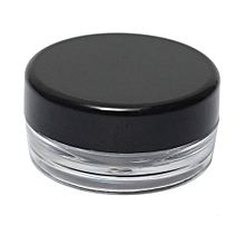 Empty Jar Pot Cosmetic Face Cream Bottle Container Screw Lid Black 5g New