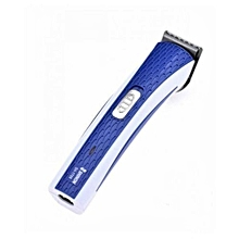 Rechargeable Hair And Beard Trimmer - white and blue