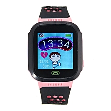 Waterproof GPS Tracker SOS Call Children Smart Watch For Android IOS IPhone Pink (with Camera)
