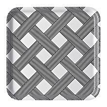 "Barbar Tray 13"" Black & White Pattern"