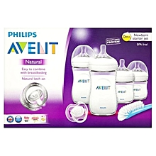 Avent-Natural-Newborn-Starter-Set-0m+ - 4 Pieces - Clear