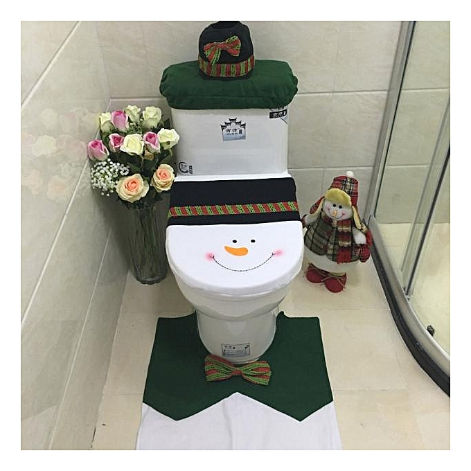 Buy Generic 3pcs Set Fancy Snowman Toilet Seat Cover And