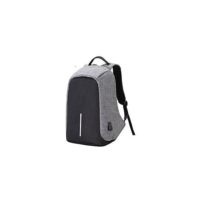 5cb79fcfbaa7 Men s Backpack Anti-theft Laptop Bag Large Capacity Travel Backpacks - Black  and Grey