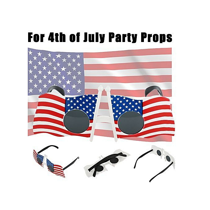 d38b52039c93 ... Fashion Cool American Flag Sunglasses USA Patriotic Design For 4th Of July  Party Props ...