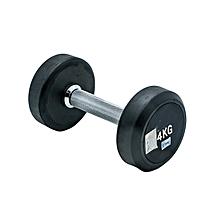 BW-405-4KG - Rubber Dumbbell - 4Kg - Black