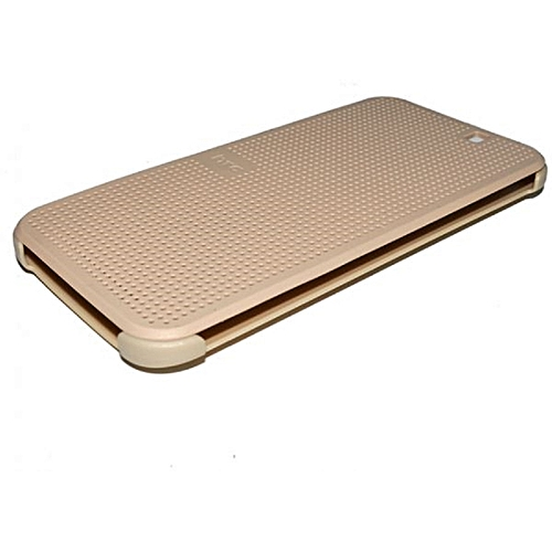 One M9 - Dot View Touch Sense Case - Gold