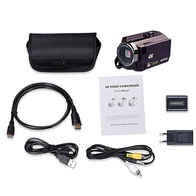 3inch LCD WiFi Digital Camera Full 1080P Video Camera HD 4K Touchscreen DV  Camcorder Video Player with Camera Bag Digital LOOKFAR