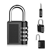 jummoon shop 4 Digit Combination Lock Padlock For Locker Gym Bag School Travel Suitcase