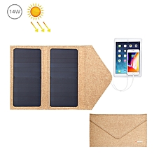 HAWEEL 14W Foldable Solar Panel Charger with 5V / 2.1A Max Dual USB Ports(Yellow)