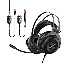 Ajazz TheOne 7.1 Channel Surrounded 3.5mm USB Gaming Heaphone Headset with Independent Sound Card