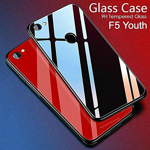 outlet store c558b d8479 Glass Case For OPPO F5 Youth Case HD Clear Full Protection Tempered Glass  Back Cover For Oppo F5 Youth Housing