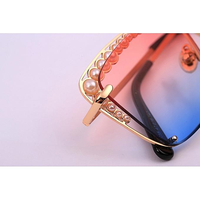 68aa379866d Meike Cat Eye Fashion Metal Frame Mirrored Flat Lenses Women Sunglasses