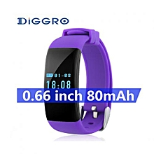 """DFit - 0.66"""" Smart Bracelet For Android IOS 80mAh Sedentary Reminder - Purple"""