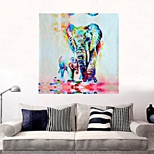 MOHOO 20 x 20inch Elephant Oil Watercolor Painting Canvas Wall Art Printed Decor-Multi