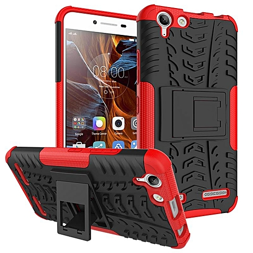wholesale dealer f7872 be59b For Lenovo K5 Case Silicone TPU + Armor Plastic Cases Kickstand Cover For  Lenovo Vibe K5 Case 262737 (Red)