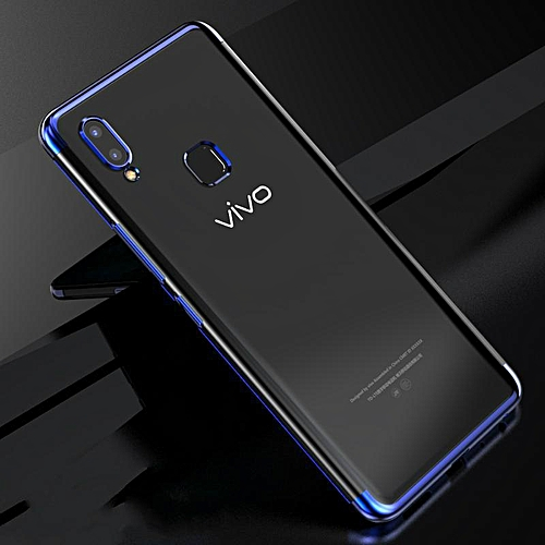 For Vivo Y91 Soft Case Transparent Plating Electroplate Shining Clear  Casing For Vivo Y91 I Cover Housing (vivo Y91i-Blue)