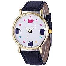 Leather Band Analog Quartz Casual Wrist Watch
