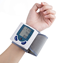 Portable Household Wrist Blood Pressure Monitor - White