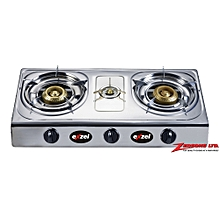 Exzel Three Burner Stainless Steel Gas Stove