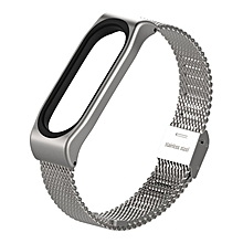 Mijobs Stainless Steel Bracelet Watch Band Strap For Xiaomi Mi band 3 Watch silver